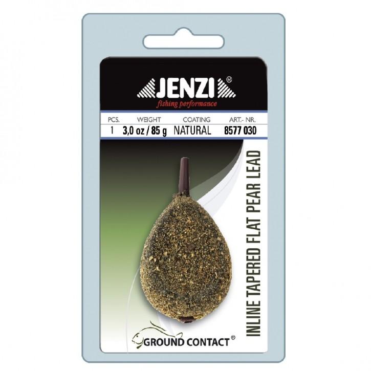 Jenzi Ground Contact Karpfenblei Carp-Lead Inline Tapered Flat Pear 5,00lbs