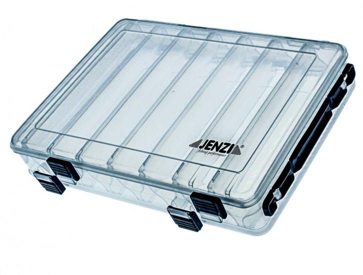 Jenzi Kunststoff-Box transp. 2-seitig öffenbar 270x180x43