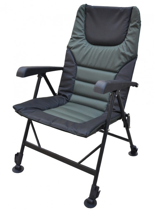 Jenzi GROUND CONTACT Deluxe Chair with Armrest Anglerstuhl